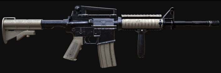 Colt M4 Assault Rifle VFX 3D CG
